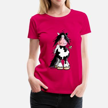 Cartoon Irish Cob Gypsy Cob - Irish Cob - Pinto – Horse - Women's Premium T-Shirt