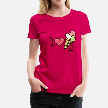 Spagettieis I love icecream - Women's Premium T-Shirt