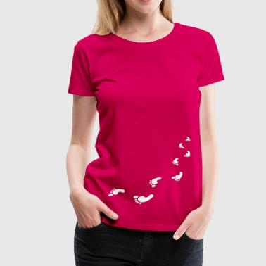 foot prints - Women's Premium T-Shirt