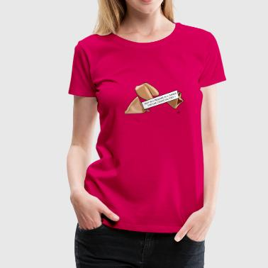 Big Boobs Funny Fortune cookie - Women's Premium T-Shirt