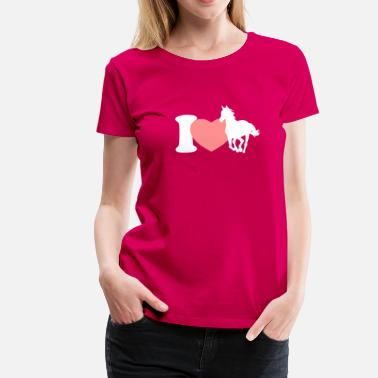 I love horses - Women's Premium T-Shirt