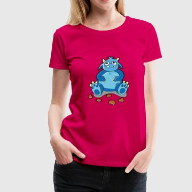 Cookie Monster - hunger, smulor - Premium-T-shirt dam