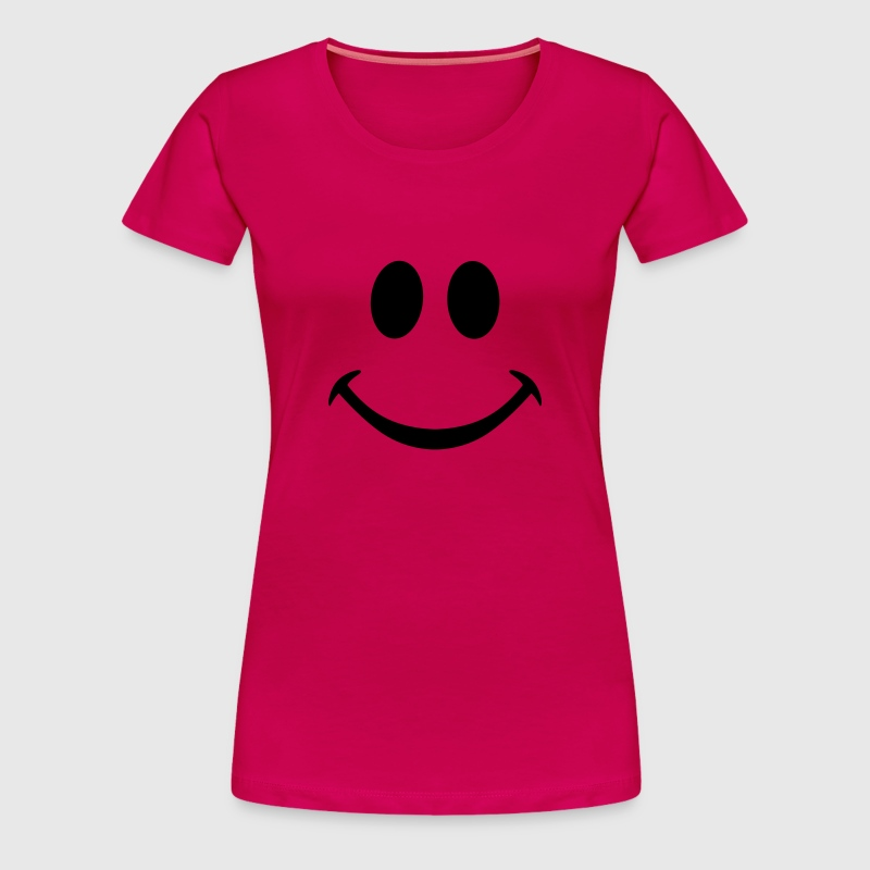 smiley smily fantome simple silhouette - T-shirt Premium Femme