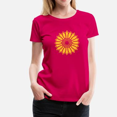 Optimism Solros - Sunflower - Follow the light!, c, symbol of vitality, joy and confidence, energy icon, symbol of green politics - Premium-T-shirt dam