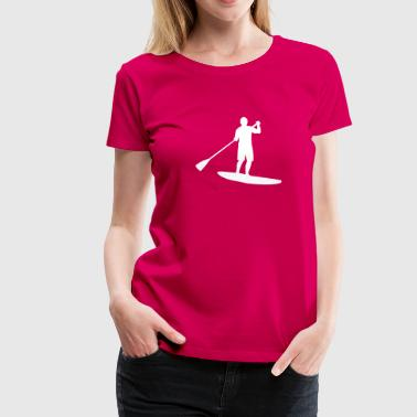Sup, Stehpaddeln, Surfen, Wellenreiten, supen, Stand up  paddle surfing - Frauen Premium T-Shirt