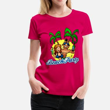 Beach Party Beach party - Premium-T-shirt dam