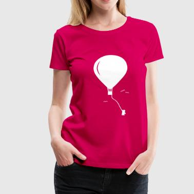 hot-air balloon guy  guy de ballon à air chaud  - T-shirt Premium Femme