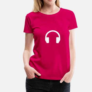Dj Earphones earphones / headphones - Women's Premium T-Shirt