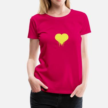 Bleed Out  Heart Love Blood bleeding drops - Women's Premium T-Shirt