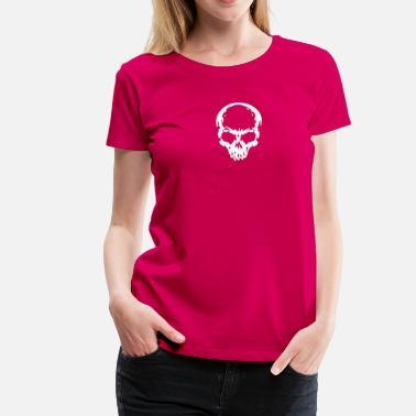 skull Headphone dj music - Dame premium T-shirt