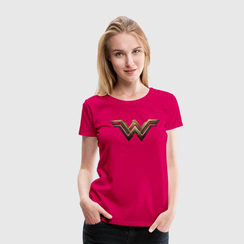 Warner Bros Wonder Woman Logo - Frauen Premium T-Shirt