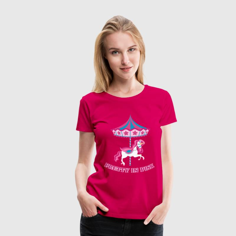 Pretty in Pink Carousel - Vrouwen Premium T-shirt