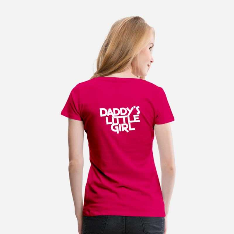 Daddy T-Shirts - DADDY's Little girl - Women's Premium T-Shirt dark pink