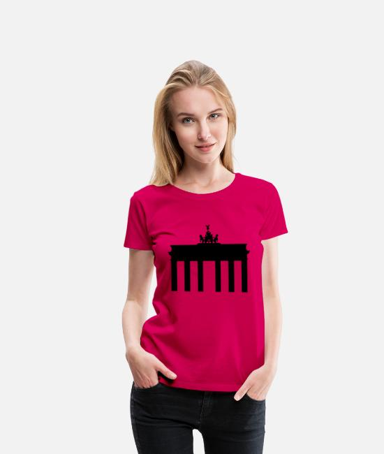 Spree T-Shirts - Brandenburg Gate - Women's Premium T-Shirt dark pink