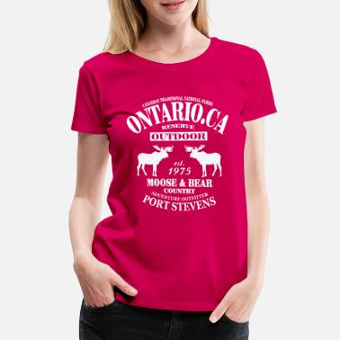 Country Canada - Moose & Bear Country - Frauen Premium T-Shirt