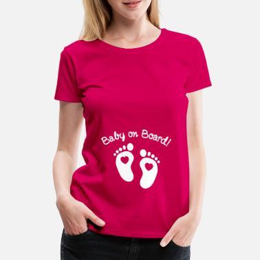 bb3f25352afa2 Grossesse baby on board - T-shirt premium Femme