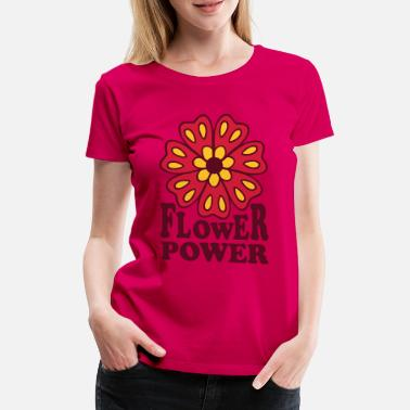 Hippie Flower Power Flower Power  Goa Hippie Flower 70s  Flower  - Women's Premium T-Shirt