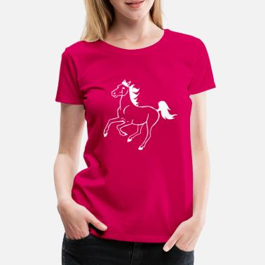 Galop Hest galopperende - Premium T-shirt dame