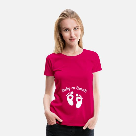 Pregnancy T-Shirts - baby on board - Women's Premium T-Shirt dark pink