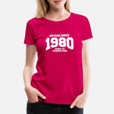 Aged aged to perfection established 1980 (nl) - Vrouwen premium T-shirt