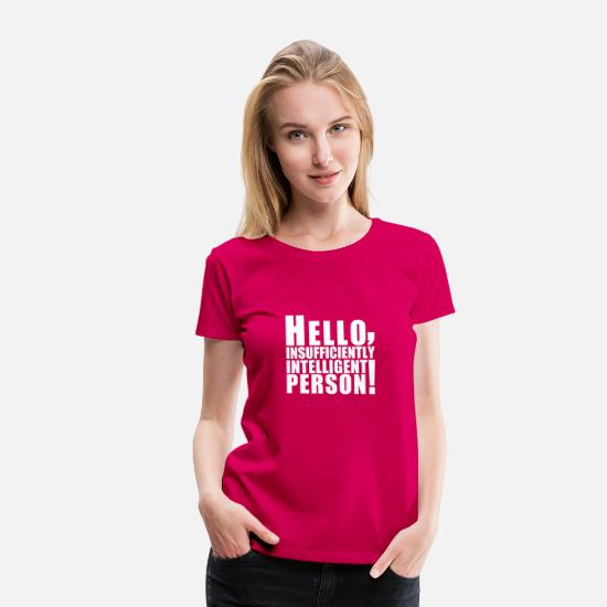 Geek T-shirts - hello_person - T-shirt premium Femme rubis