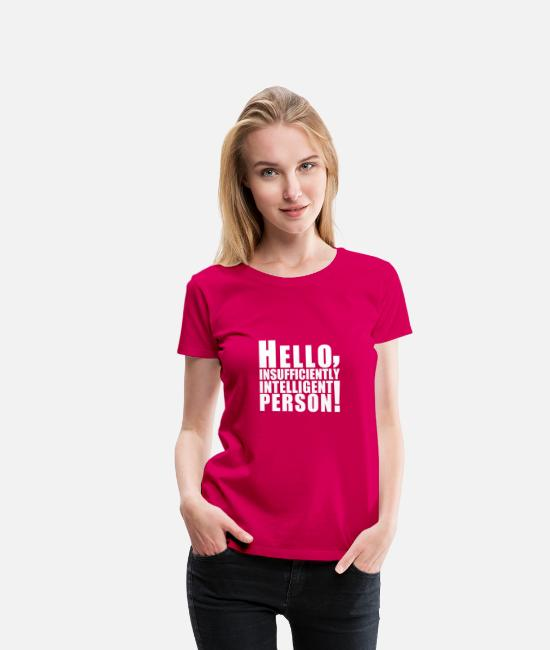 Big T-shirts - hello_person - T-shirt premium Femme rubis