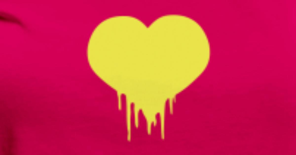 La Sangre Del Corazón Al Amor Sangrando Gotas Camiseta Premium Mujer