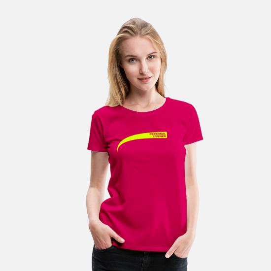 Instructor T-Shirts - Personal trainer / Drill Instructor - Frauen Premium T-Shirt dunkles Pink