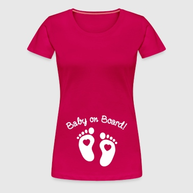 baby on board - Dame premium T-shirt