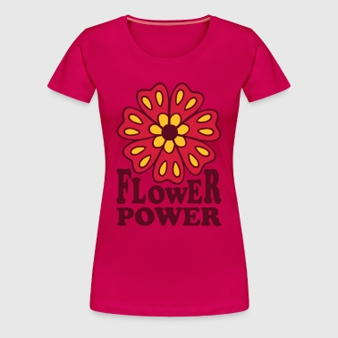 Flower Power  Goa Hippie Flower 70s  Flower  - Women's Premium T-Shirt