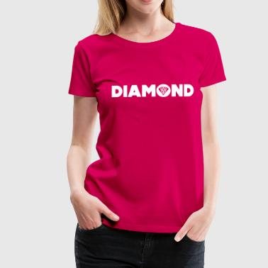 diamond - Dame premium T-shirt