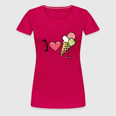I love icecream - T-shirt Premium Femme
