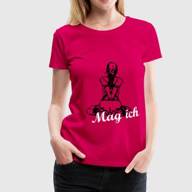 Slavegirl on her knees - backside bondage - Frauen Premium T-Shirt
