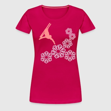 acrobatic skiing - Women's Premium T-Shirt