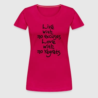 Love with no regret - Women's Premium T-Shirt