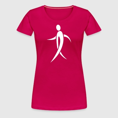 Walking Pink Ribbon - Women's Premium T-Shirt