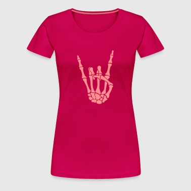 knochen pommesgabel - skull rock hand - Women's Premium T-Shirt