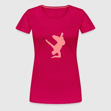 Breakdancer (on elbow) (Vector) - Frauen Premium T-Shirt