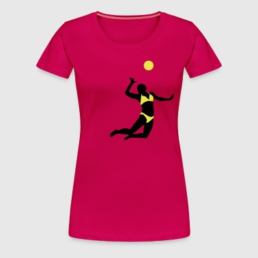 beachvolleyball_woman_2c - T-shirt Premium Femme