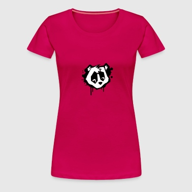 Bear Head in Graffiti Style - Women's Premium T-Shirt