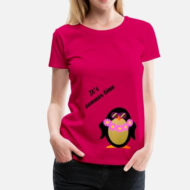 Sonnengebräunt Pinguin Hawaii - Frauen Premium T-Shirt