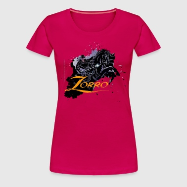 Zorro Riding On His Black Mount Tornado - Vrouwen Premium T-shirt