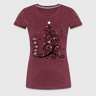 Christmas tree with gifts and stars - Women's Premium T-Shirt