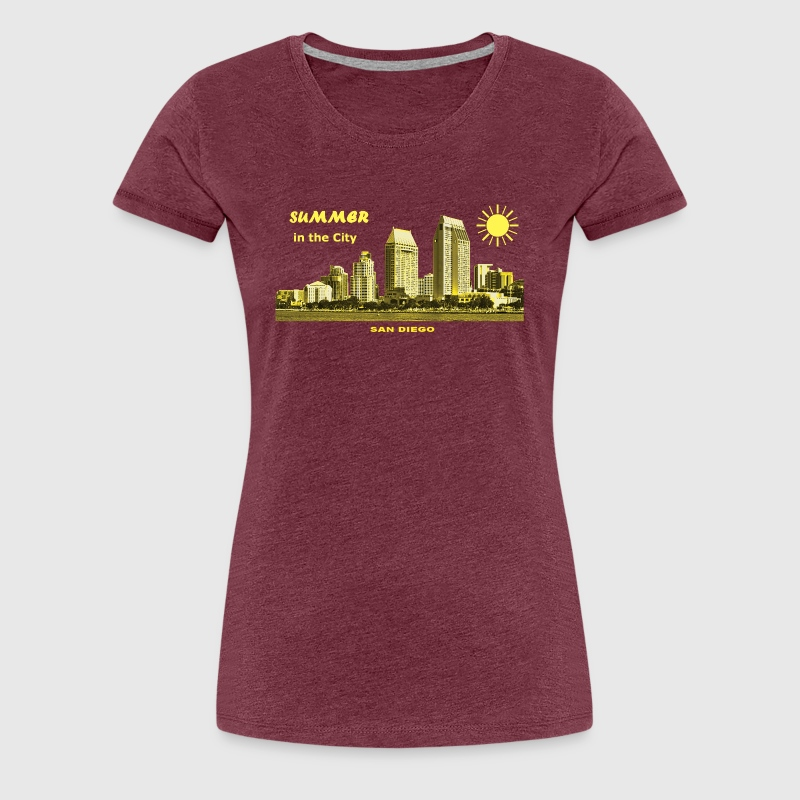 Summer in the City San Diego California USA - Frauen Premium T-Shirt
