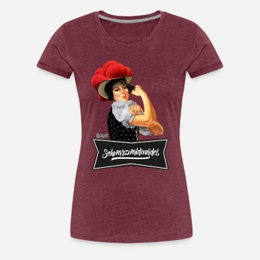 Schwarzwälder Schwarzwaldmädel - We Can Do It! - Frauen Premium T-Shirt