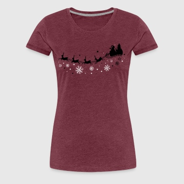 Santa Claus with sleigh and reindeer - Women's Premium T-Shirt