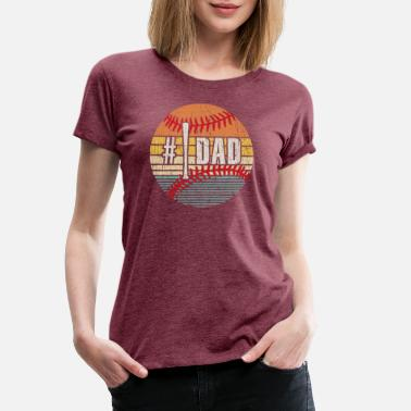 Outfielder Baseball Dad Funny Baseball Softball Dad Father Pa - Women's Premium T-Shirt