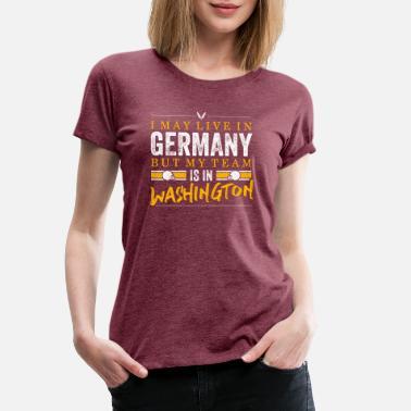 Washington Football Fans Germany - Frauen Premium T-Shirt cae649671