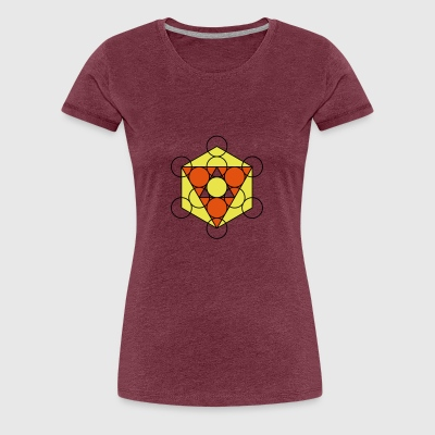 Dreiecke Kreise Hipster Geek Big Bang Hexagon - Frauen Premium T-Shirt