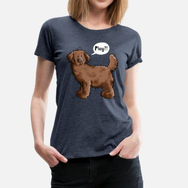 Newfie Play Newfoundland Dog- Newfi - Newfis - Gift - Fun - Women's Premium T-Shirt